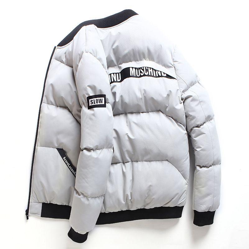 Мода-2019 Новый стиль Зимняя куртка Мужчины Повседневная Slide Спортивная F Мужской Стенд воротник пальто проложенный сгущает ветровки