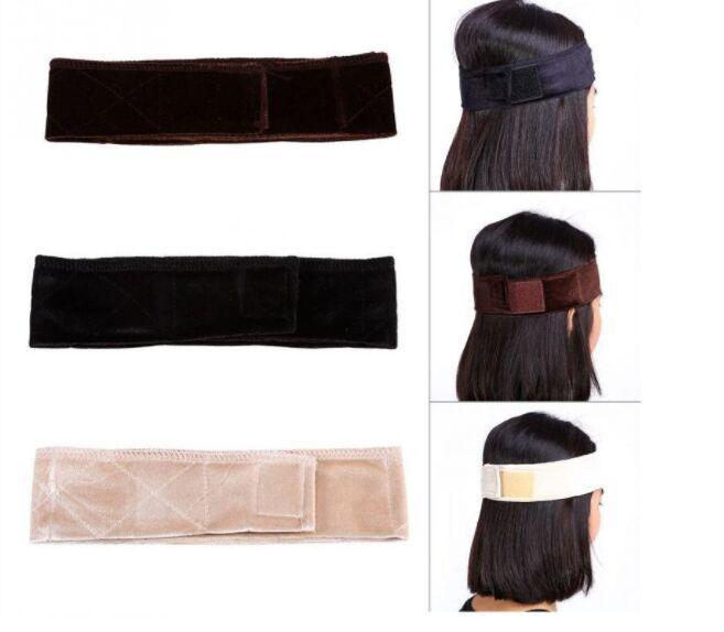 Nova moda Duplo rendas Sided girp Faixa de Cabelo Veludo ajustável peruca de cabelo grip banda headband Wiggery Accessery Headband