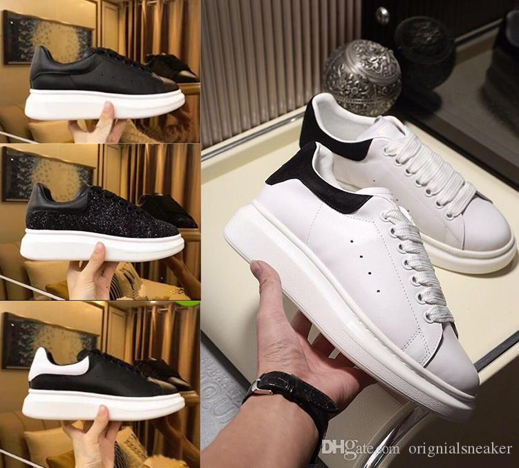 2019 Promosyon Moda Günlük Ayakkabılar Flats Moda Kalın Kösele Yürüyüş Ayakkabı Dış Mekan Günlük Elbise Parti Sneakers spor ayakkabı size36-45