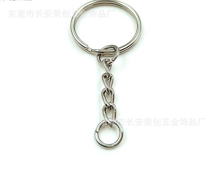 5000 قطع مصقول 25 ملليمتر كيرينغ المفاتيح سبليت الدائري مع سلاسل مفتاح سلسلة قصيرة النساء الرجال diy سلاسل المفاتيح الملحقات