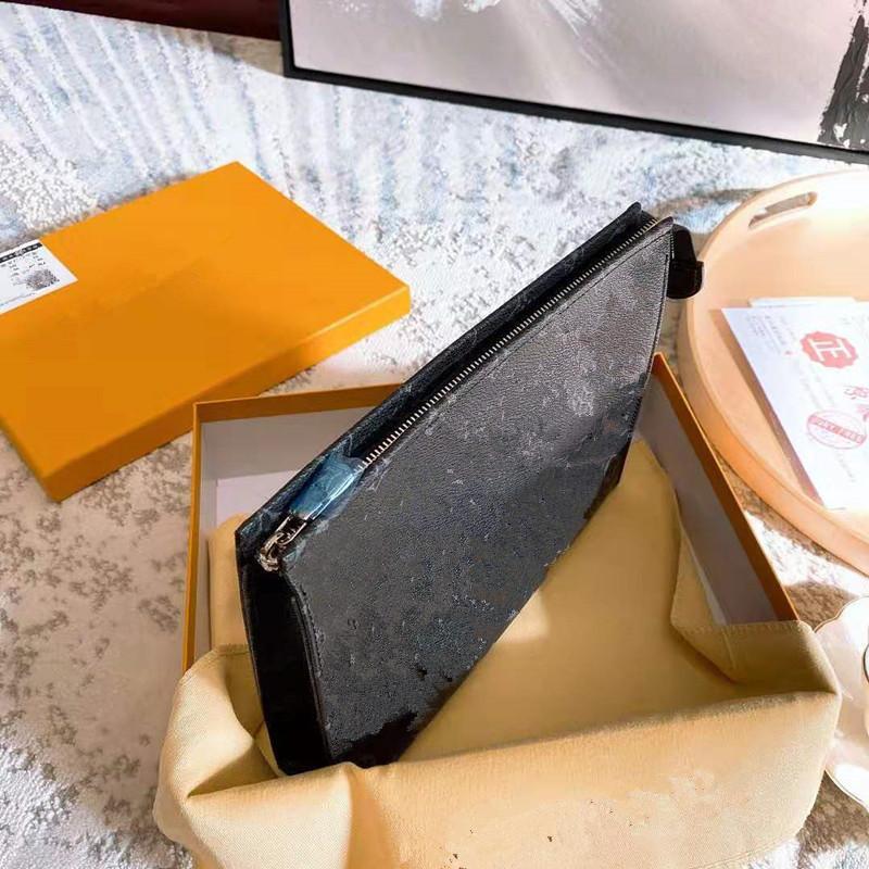 Männliche Handtaschen Presbyopic Handtasche Business-Hand fing die große Kapazitäts-Clip-Paket mit den Männern und Frauen Wallet Clutch Designer Purse