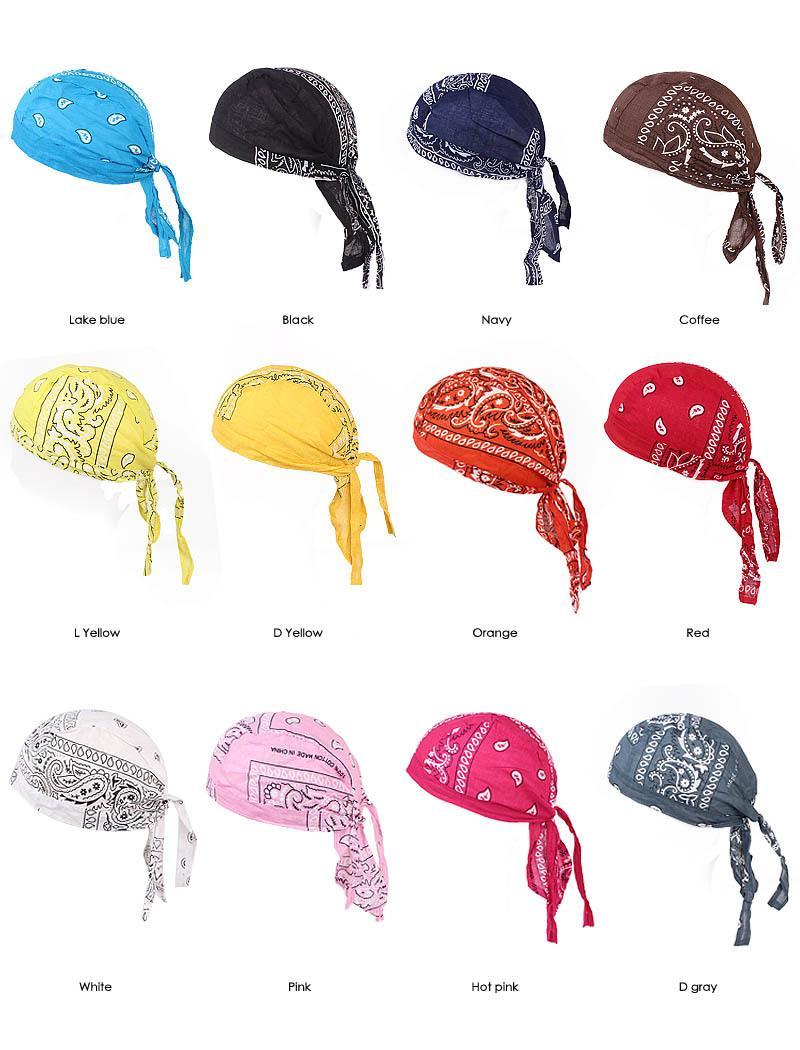 Unisex Velvet Durags Bandana Turbante Cappello Pirata tappi parrucche Doo Durag motociclista Copricapo fascia Pirata Cappello da equitazione Caps Accessori per capelli