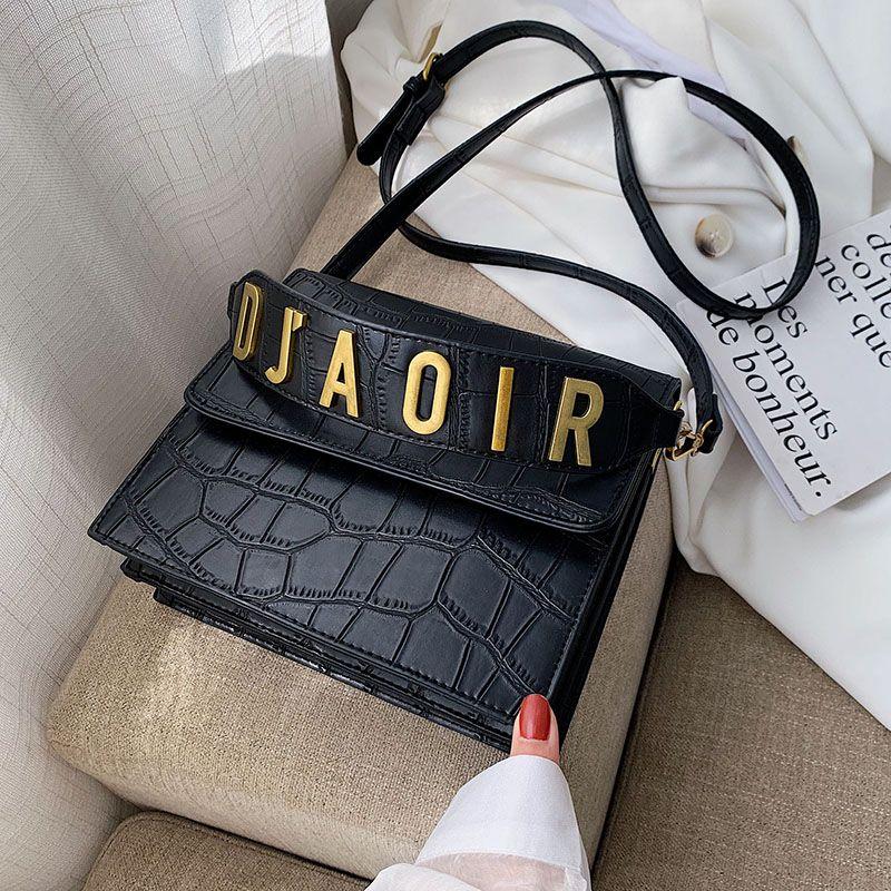 Steinmuster Leder Umhängetaschen Für Frauen 2019 Herbst Luxus Handtaschen Frauen Taschen Designer Weibliche Schulter Umhängetasche