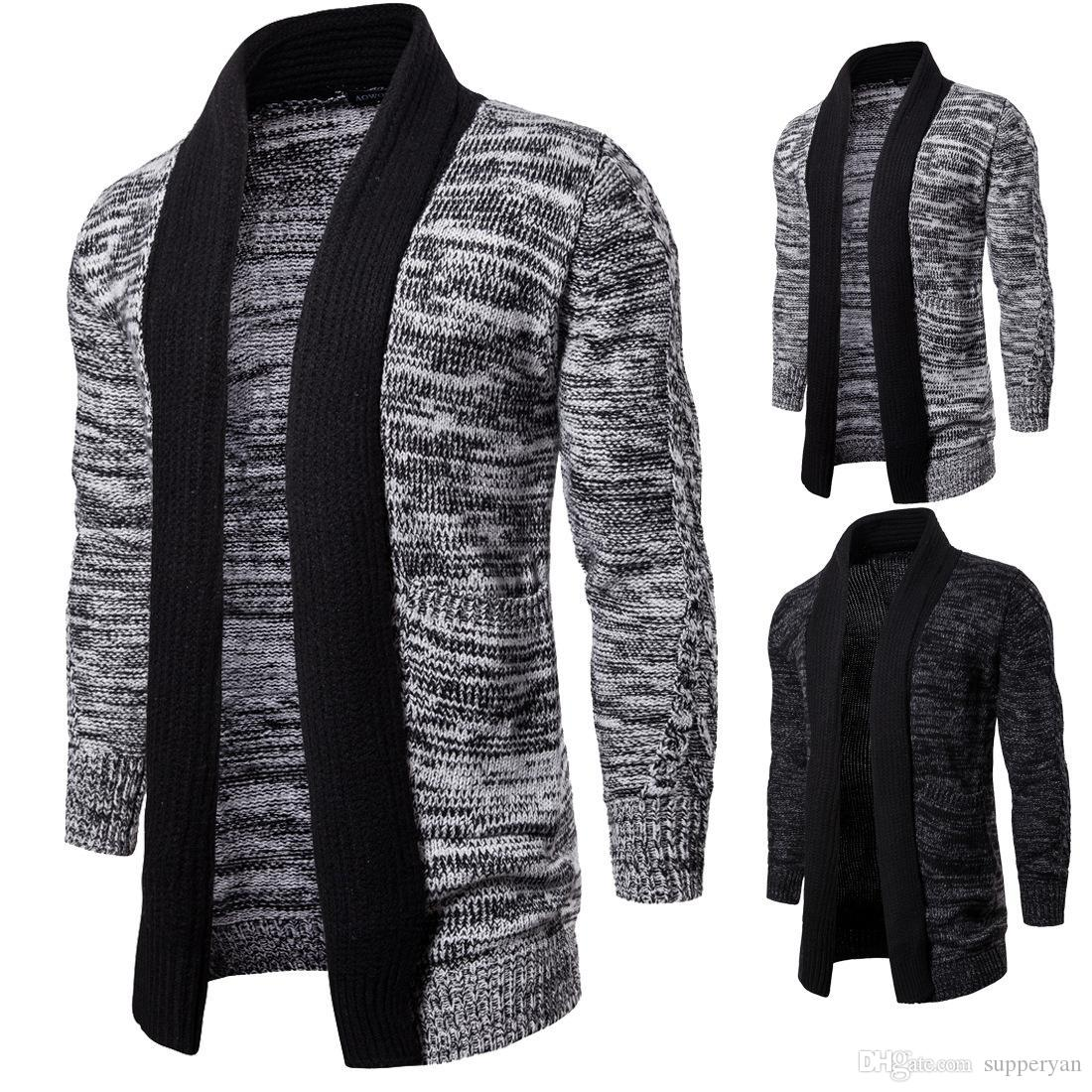 Men/'s Women Cardigan Knit Jumper Sweater Button Up V-Neck Casual Tops Coat M-2XL