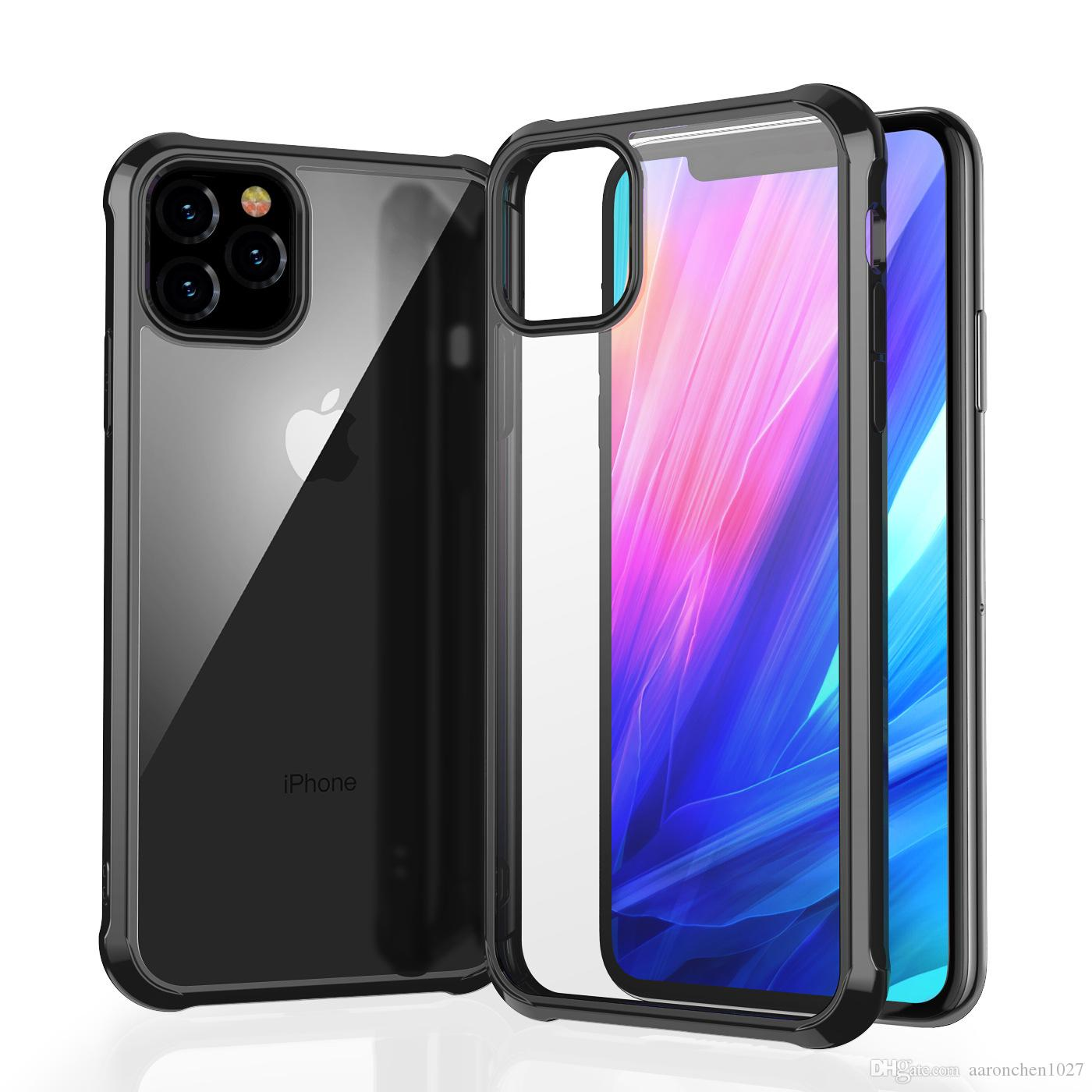 Coque rigide pour téléphone portable pour iPhone 6 6S 7 8 Plus XS XR iPhone 11 Pro Max 2019 Protection antichoc TPU Couverture de cadre avec boîte LEEU DESIGN