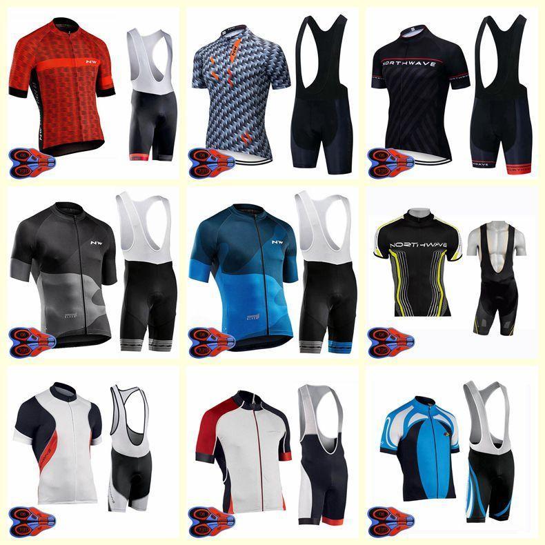 2020 Nw Cycling Team manches courtes Jersey Shorts Set Hommes Vente Hot Summer Vtt Vélo Vêtements 9d Gel Pad sport