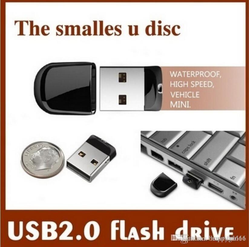 Tina Wholesales Real Capacity Mini USB2.0 USB Flash Drive 32GB~64GB Tiny Pen drive USB Stick Pendrive