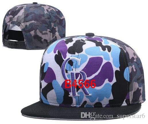 2019 best quality Snapback Rockies Hat CR Cap Adjustable Baseball Hats Snapbacks Strapback Golf Casquette Sport cap men women bone