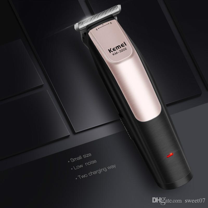 Новости Kemei 3202 0mm напролом волос Cutter Clipper Лучшего качество Машинка для стрижки волос Триммер точность гравировки Carving триммер Бритва Men Sweet07