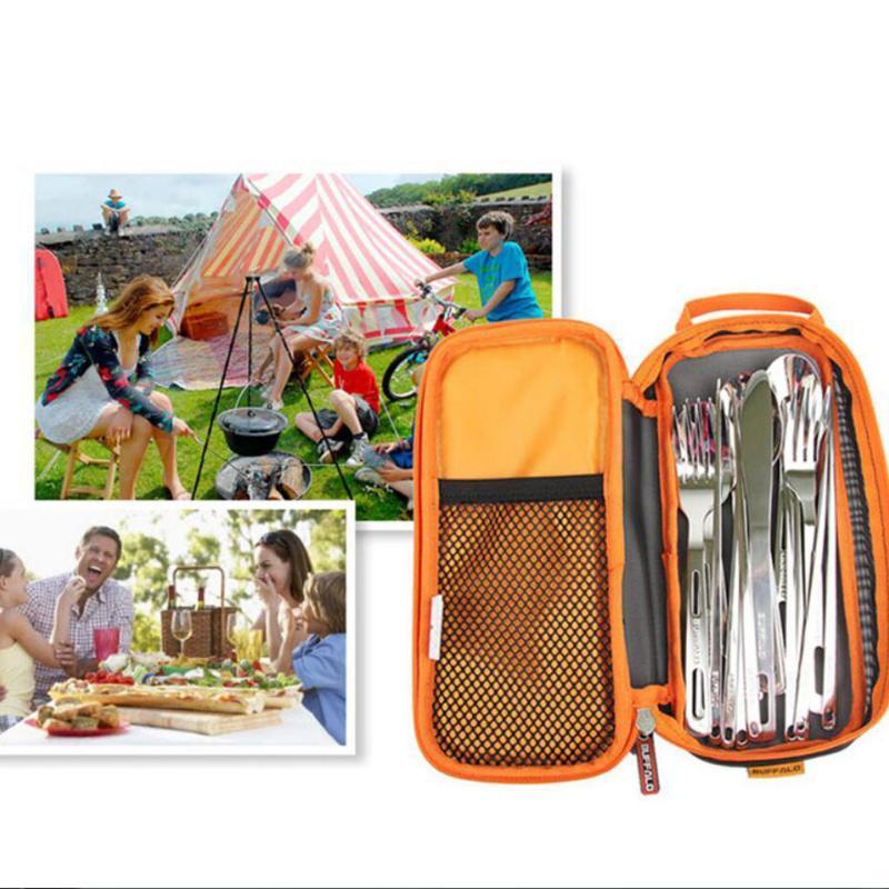 Viagem de transporte Makeup Bag Pouch Louça Chopsticks Colher Garfo Organizer Suporte para Camping Outdoor Caminhadas Picnic churrasco