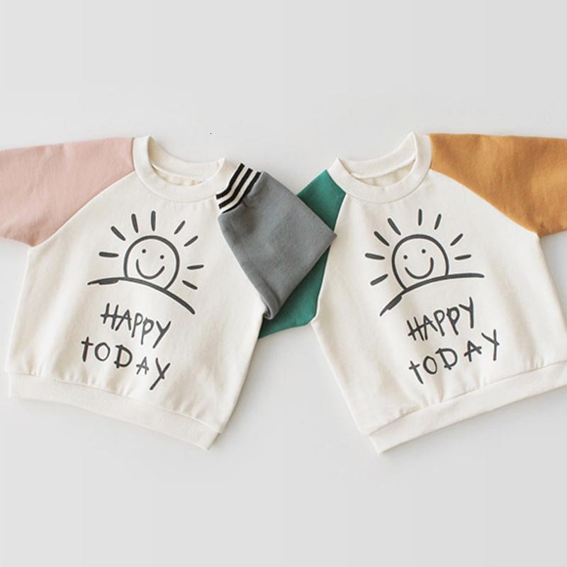 EnkeliBB criança Meninos Casual camisola menina bebê coreano estilo manga longa Tops Crianças Sun Impressão Tops queda Roupa Para Criança T191014
