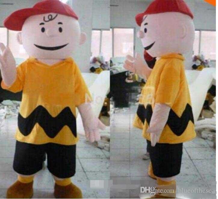 Hot sale Fancy Dress Charlie Brown MASCOT Adult Carnival Mascotte cosply Dress Kits Suit Factory Direct