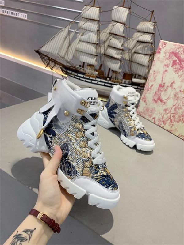 Christian Dior shoes Platform Sneakers xr200422 ile İndirim Moda Lüks Tasarımcı Kadınlar Günlük Ayakkabılar Gerçek Deri