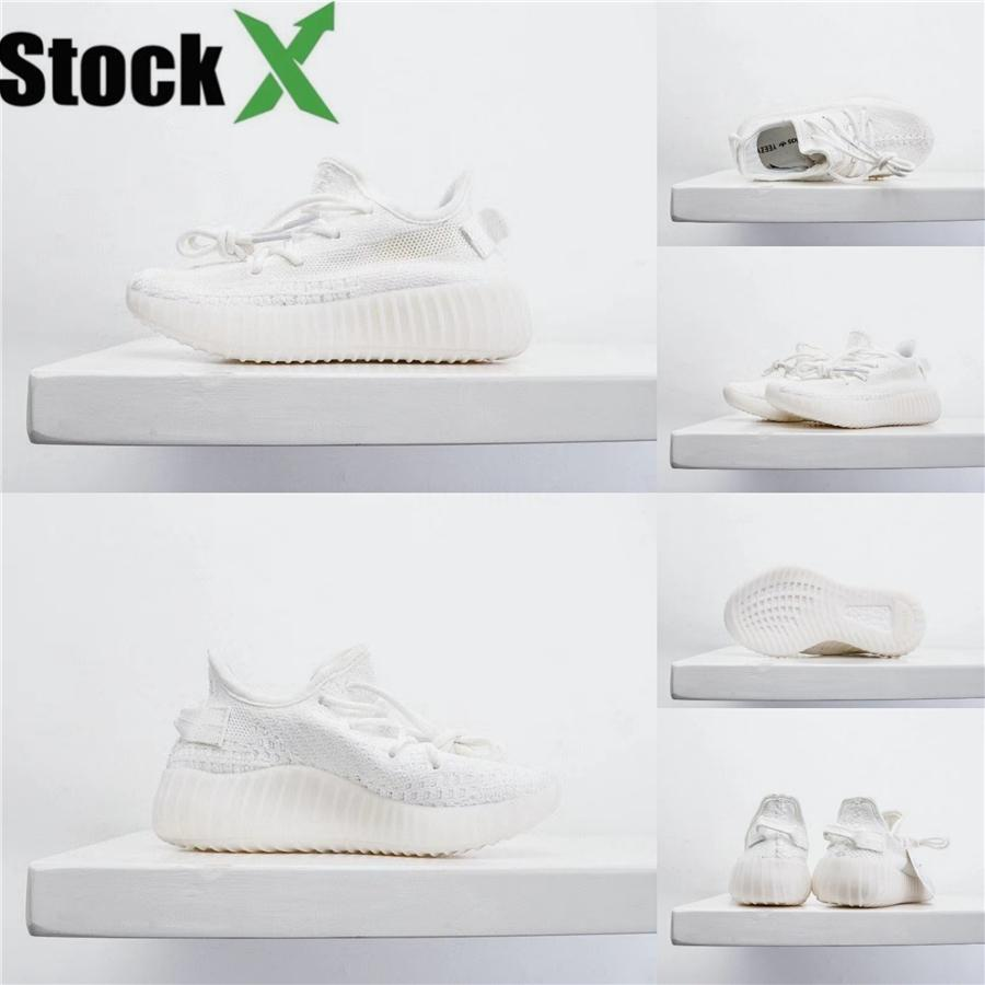 Младенец Clay малышей V2 Дети кроссовки Kanye West Static Glow In The Dark Chaussure De Sport Pour Enfant Мальчики Девочки Casual Trainers350 # 130