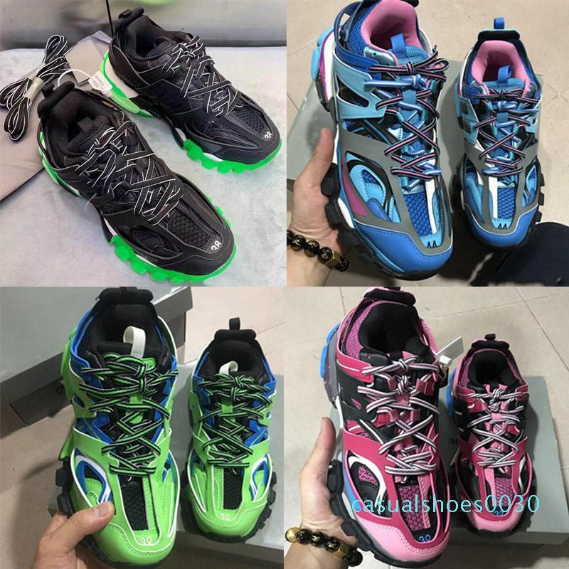 Los zapatos del diseñador Triple S 3.0 zapatillas de deporte de lujo del hombre Casual Zapatos mujeres de la plataforma al aire libre plataforma de las zapatillas de deporte para hombre Pista Formadores Chaussures c30