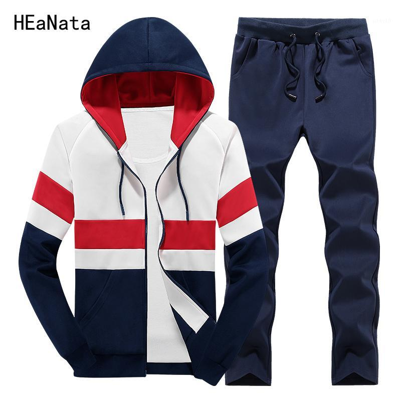 Men's Tracksuits Tracksuit Mens Hoody Clothing Sportswear Patchwork Sweat Homme Casual Men Sets Two Pieces Sporting Jacket And Pants1