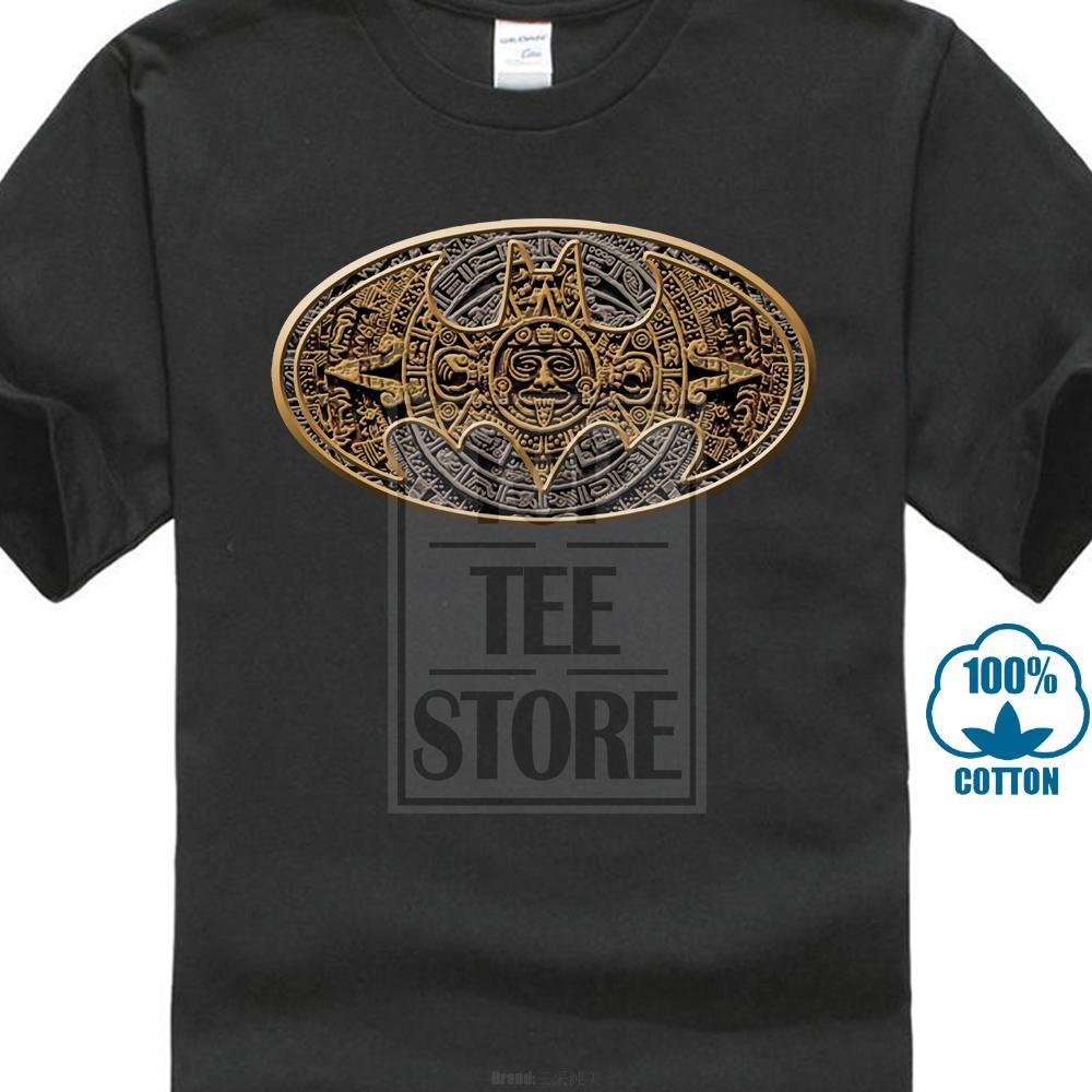 Logo T shirt uomo azteco Bat nero
