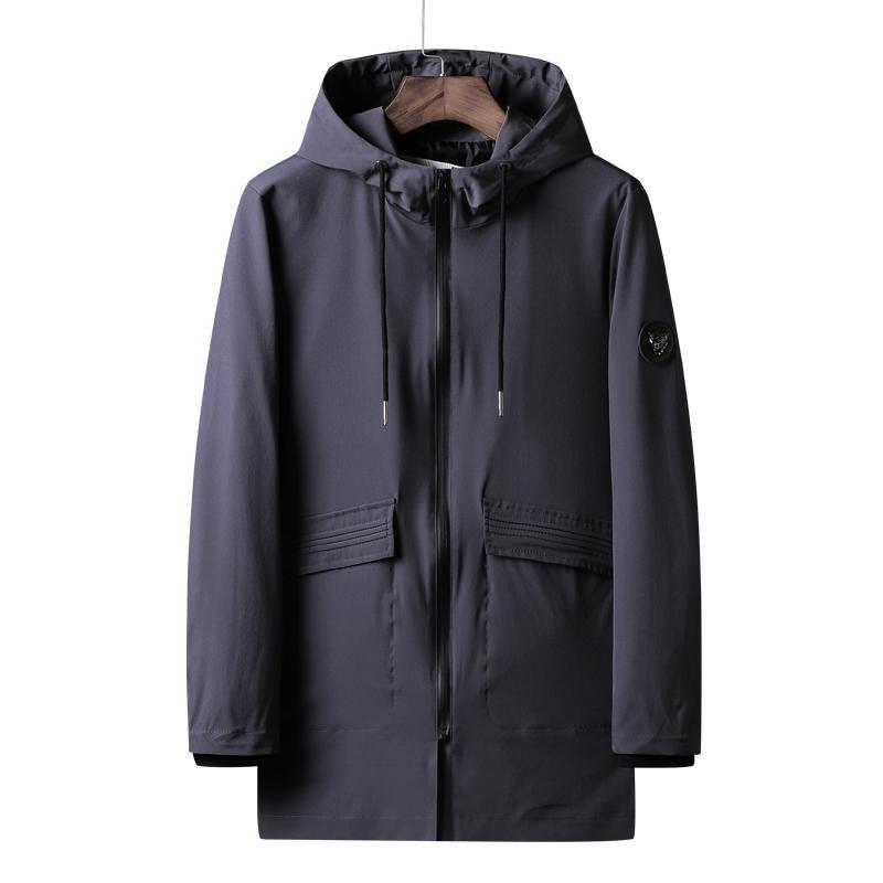 2020 Marque Printemps long Mode Hommes style trench noir manteau de veste coupe-vent hommes Outwear Trench Veste Homme taille plus