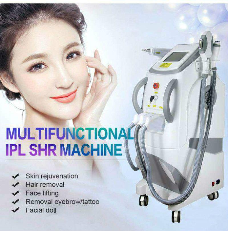2020 ND YAG LASER Tattoo skin spot removal OPT SHR hair removal EKIGHT veins removal RF Ipl equipment