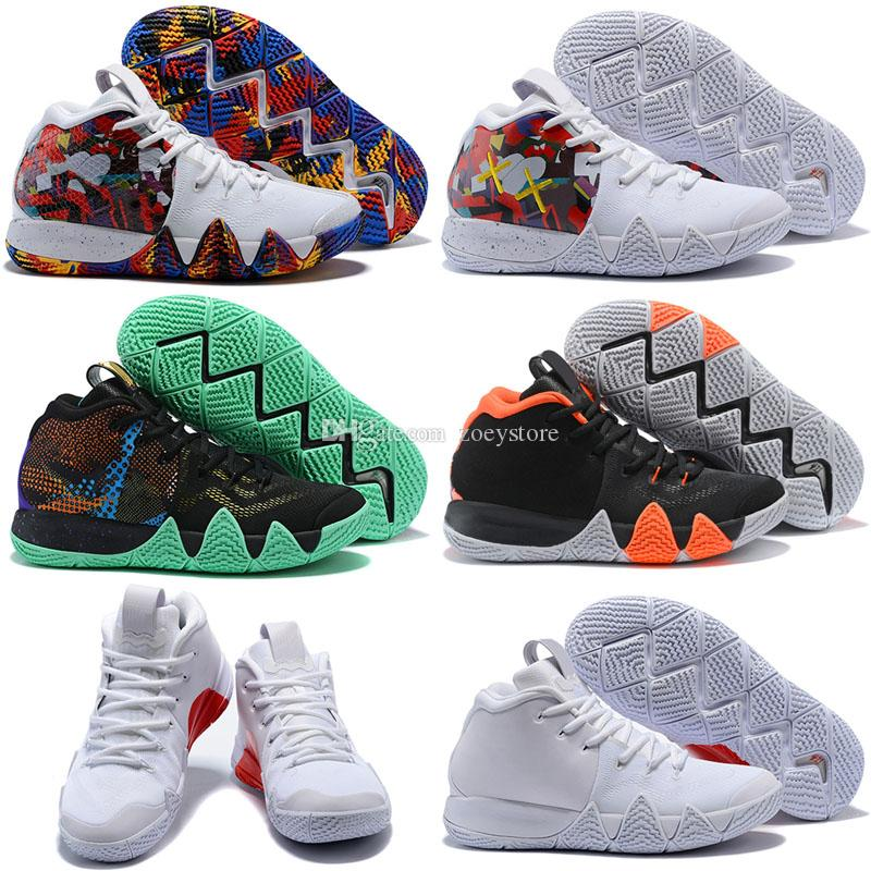 2018 Fall Irving 4 Outdoor Shoes for Cheap Sale Kyrie Sneakers Sports Mens Shoe Wolf Grey Team Red Trainers Outdoor Shoes Size 40-47