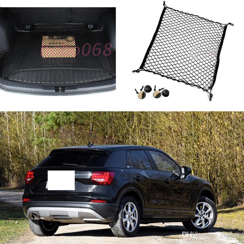 لأودي Q2 سيارة نموذج السيارات الأسود الخلفي الجذع البضائع المنظم تخزين النايلون عادي مقعد صافي