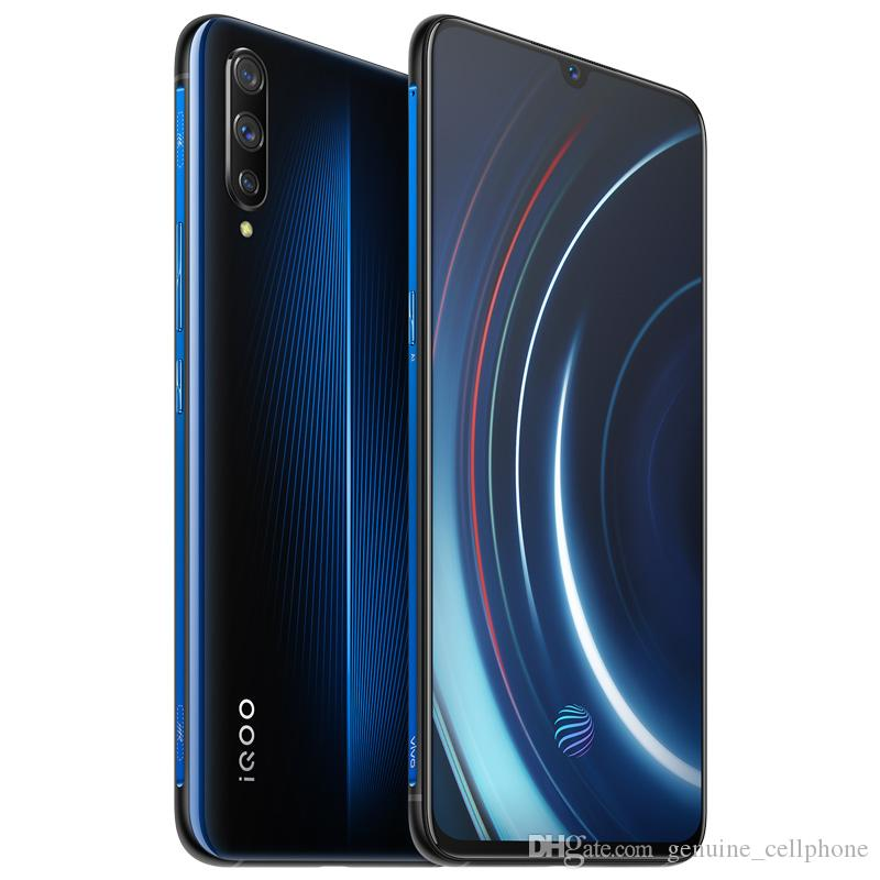 "Cellule d'origine VIVO IQOO 4G LTE Phone 8 Go RAM 128 Go 256 Go ROM Snapdragon 855 Octa base Android 6.41"" 13MP ID d'empreintes digitales Smart Mobile Phone"
