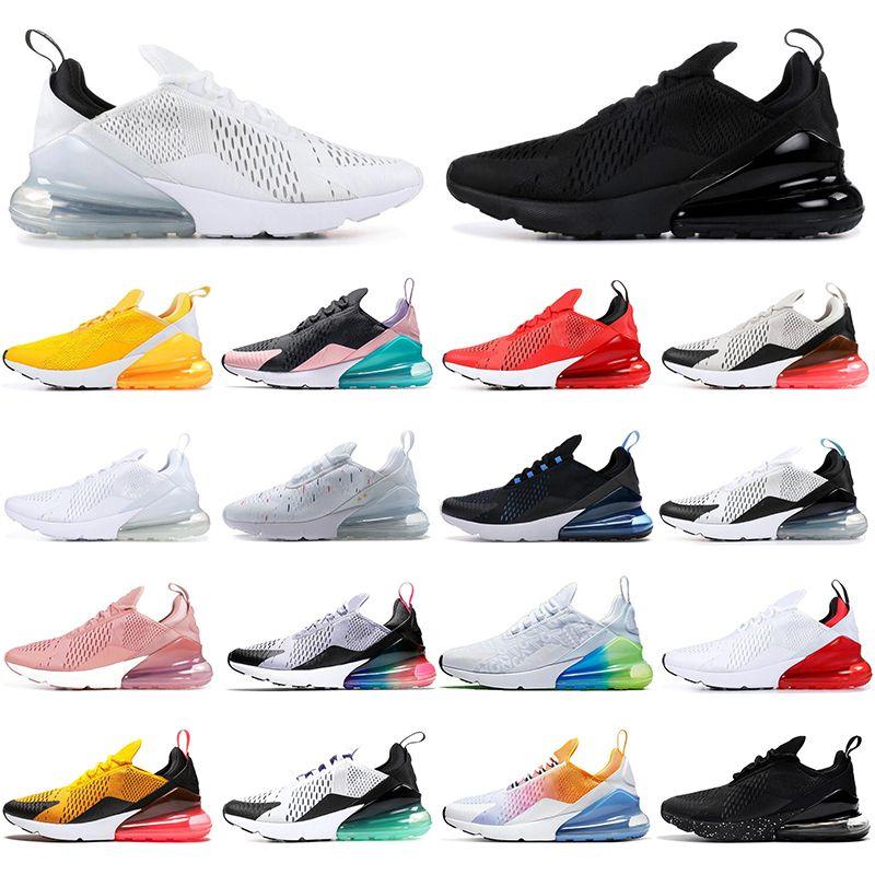 Nike air max 270 react de lanzamiento 27C ser verdad arco iris hombre del diseñador entrenadores respirables mujeres de los hombres zapatillas de deporte deportes US5.5-11