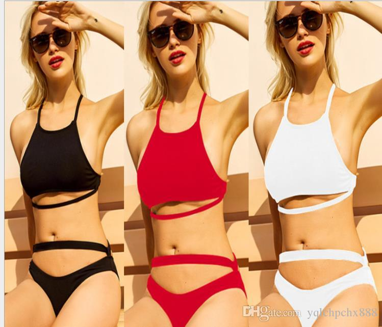 2019 Special Fabric European and American Pure Swimwear Bikini for Women's Separate Swimwear
