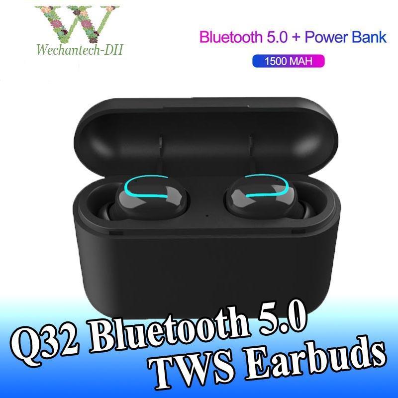 1 шт Q32 TWS беспроводные наушники мини Bluetooth 5.0 наушники спортивные шумоподавляющие наушники для xiaomi Samsung S9 S10 S11