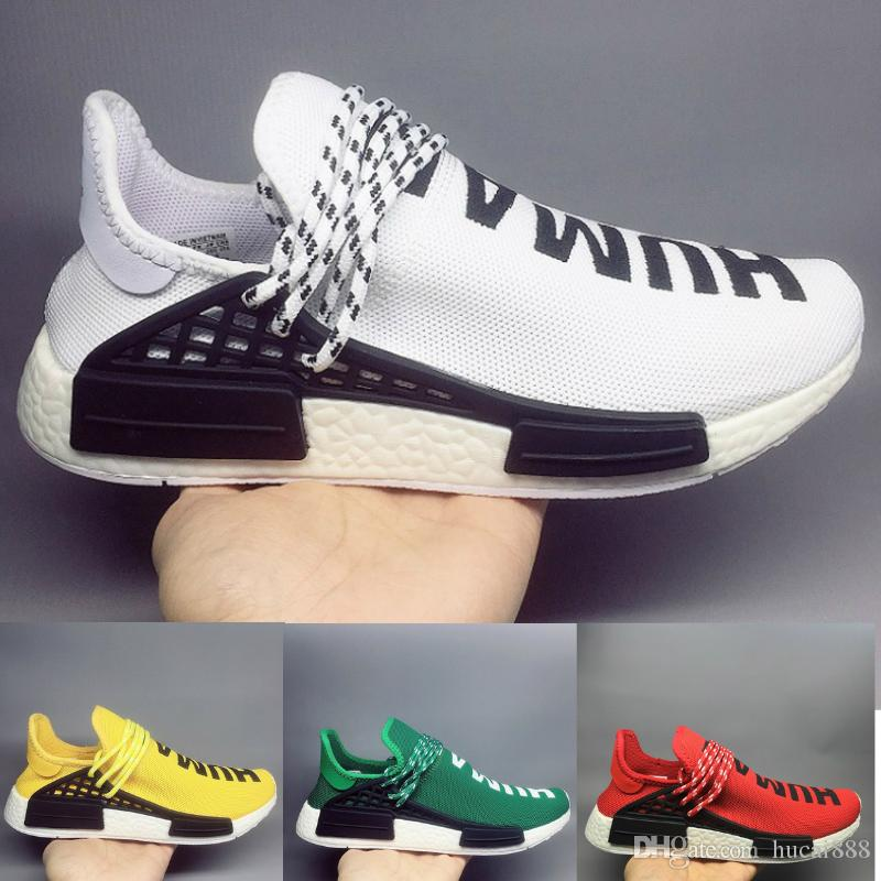 Nike air max human jordan off white new balance vans vepormax nmd basketball men designer shoes Runner Blanc Noir Jaune Rouge Vert Gris Bleu Sport Sneaker Taille 36-45 Vente en