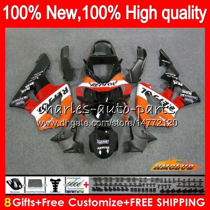 Bodys For HONDA CBR900RR Repsol orange CBR929 CBR900 RR 900RR 2000 2001 76NO.93 CBR 929RR 900 929 RR CC 900CC 929CC CBR929RR 00 01 Fairings