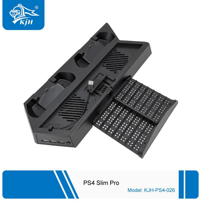 متعددة الوظائف سريعة المراقب شاحن الوقوف العمودي التبريد حامل وحدة التحكم شحن محطة قفص الاتهام لPS4 PS4 سليم PS4 برو دي إتش إل الحرة