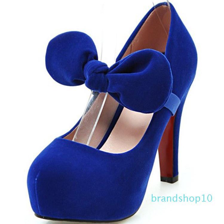 Hot2019 haut talons Retour Femme BOW seule chaussure 40-41-42-43 Deux Vêtements Chaussures femmes depuis de nombreuses années de vie A08