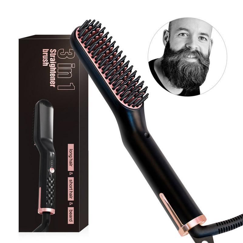 لحية الرجال مستقيم استقامة مكاوي اللحية التهيأ كيت بوي متعدد الوظائف التصميم متعدد الوظائف فرشاة مشط الشعر