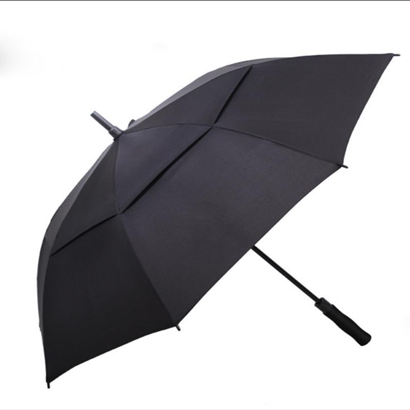새로운 핫 2019 맞춤 더블 레이어 골프 접는 우산 크리 에이 티브 크고 맑은 비즈니스 선물 광고 우산