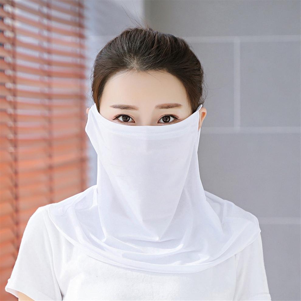TUnTo новые женщины шарф маска Маска открытый вуаль ветрозащитный половина лица пылезащитный зонт маски шарф маски лицо ухо тип партии пыли