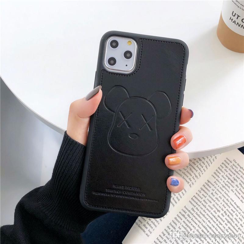 Роскошная сотовый телефон чехол Кожа PU Известный мультфильм чехол для iPhone X XS XR Xs 11 Pro Max 6S 7 7plus 8 8Plus крышки