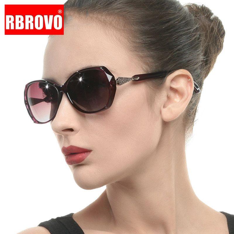 RBROVO luxe lunettes de soleil surdimensionnées femmes Lunettes de soleil rétro femmes Marque Designer Lunettes Mirror Feminino
