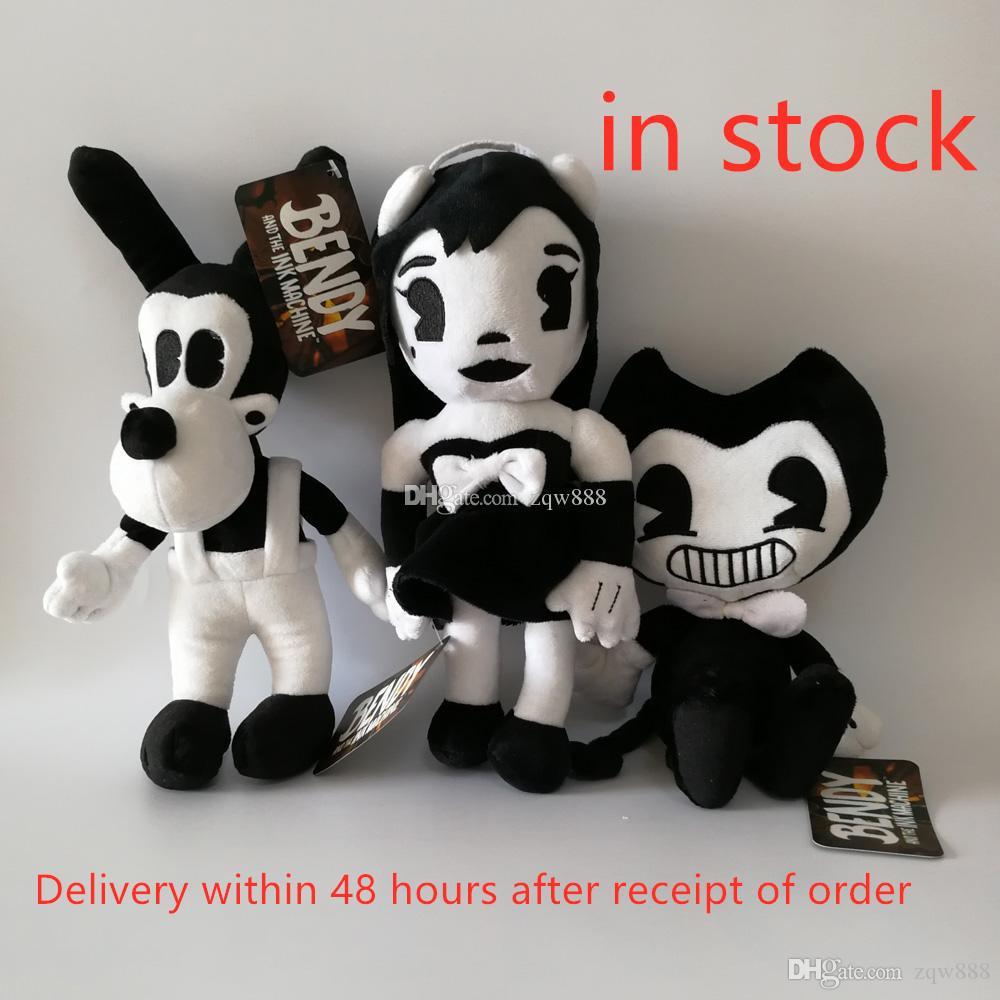 새로운 게임 3pcs / lot 25-30cm Bendy Dog Bendy와 잉크 기계 봉제 인형 장난감 Chidlren 최고의 크리스마스 선물 NOOM005