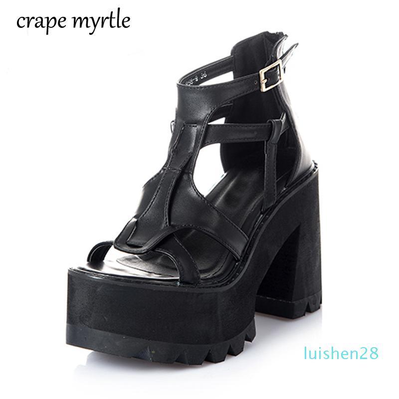 trapu spartiates talon femmes femmes chaussures chaussures bout ouvert chaussures chunky sandales d'été pour les talons moulantes YMA162-1 L28