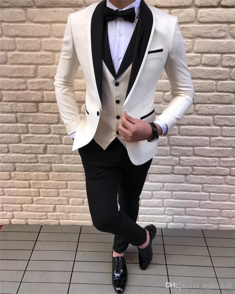 Abiti da uomo 3 Pezzi Slim Fit Casual Business Groomsmen Cappotti Grigio Verde champagne risvolto smoking per rivestimento di cerimonia nuziale formale (giacca sportiva + Pants + vest)