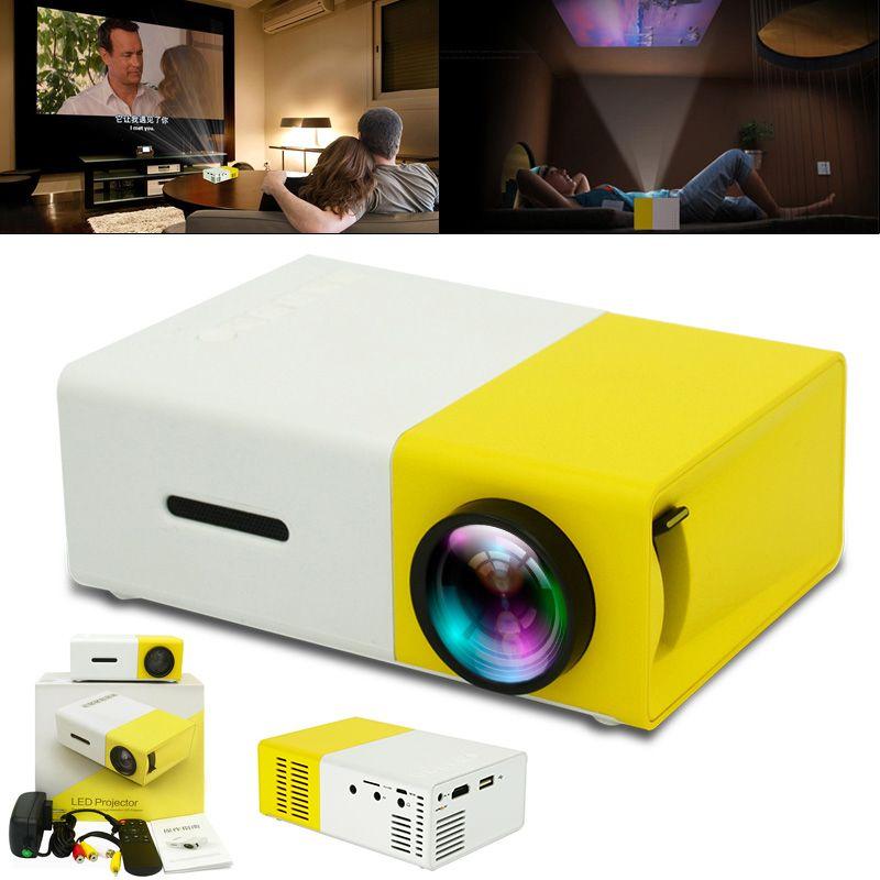 LED ميني بروجكتور 320X240 بكسل وتدعم 1080P YG-300 HDMI USB ومشغل الصوت المحمولة العارض الصفحة الرئيسية ميديا فيديو