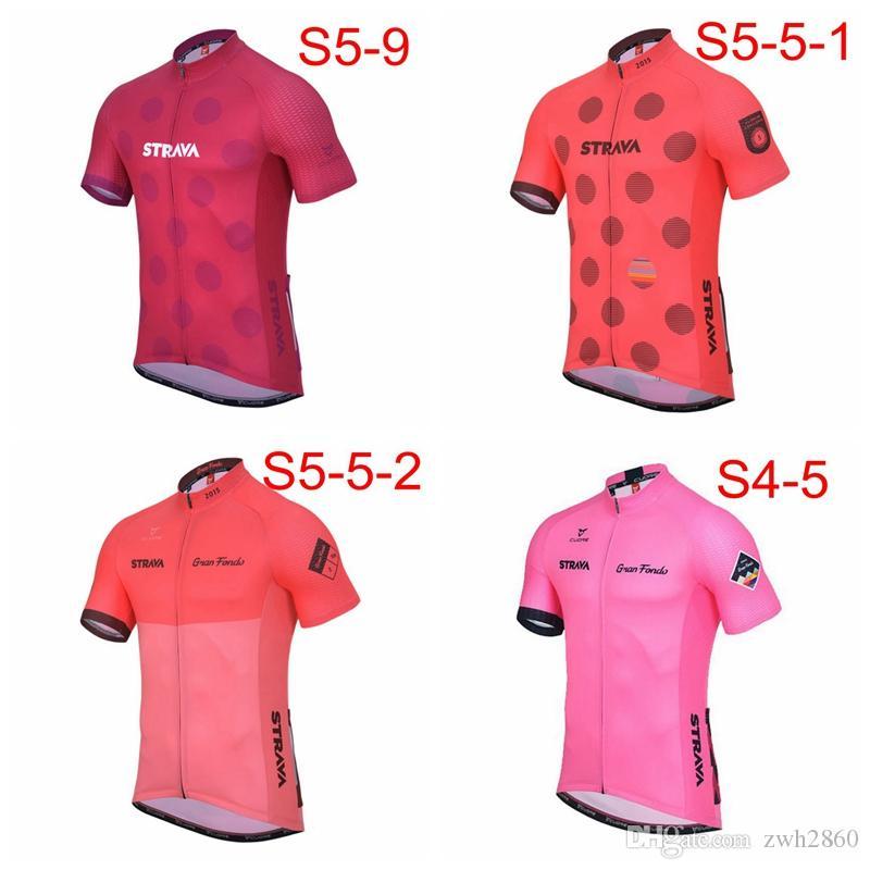 STRAVA ekibi custom made Bisiklet Kısa Kollu jersey Yaz moda erkekler kısa kollu nefes rahat spor tam fermuar jersey S7135
