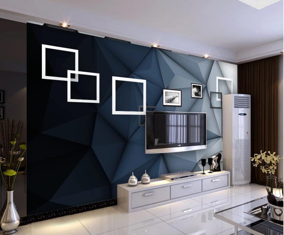 parede simples estéreo foto quadro do art tv fundo mural 3d papel de parede 3d papéis de parede para TV pano de fundo