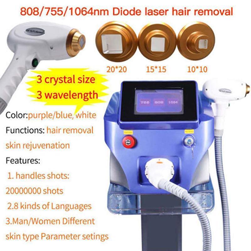 2020 Завод Цена 808 диодный лазер машина 808nm Длина волны для всех типов кожи быстрого удаления волос подмышками