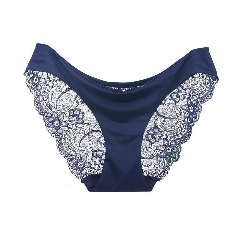 Lady underwear woman panties fancy lace sexy panties for women low-Rise crotch of cotton briefs hot sale 3 pcs/lot