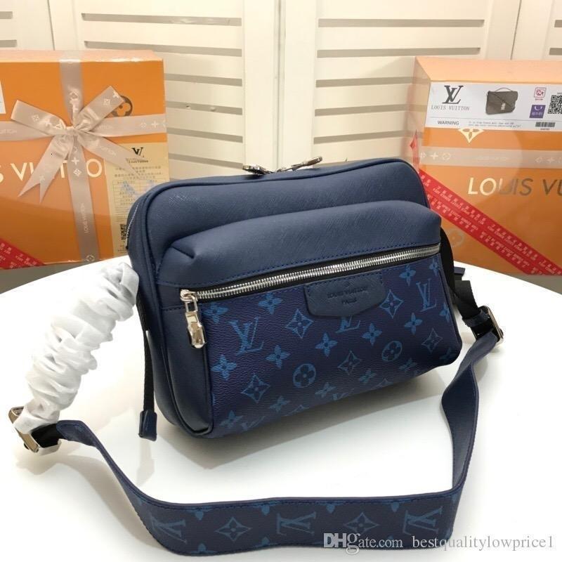 2019 heiße Art und Weise Männer und Frauen S Messenger Bag Messenger Schultertasche Kette Retro Echtes Leder M443845