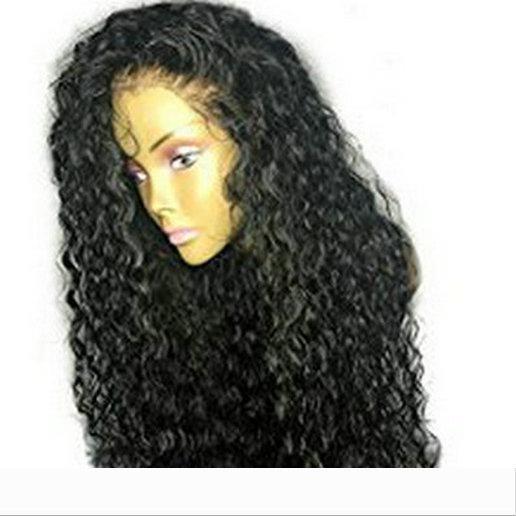 360 laço frontal peruca afro excêntrico encaracolado brasileira dianteira do laço do cabelo humano peruca pré arrancado 130% de densidade para as mulheres negras