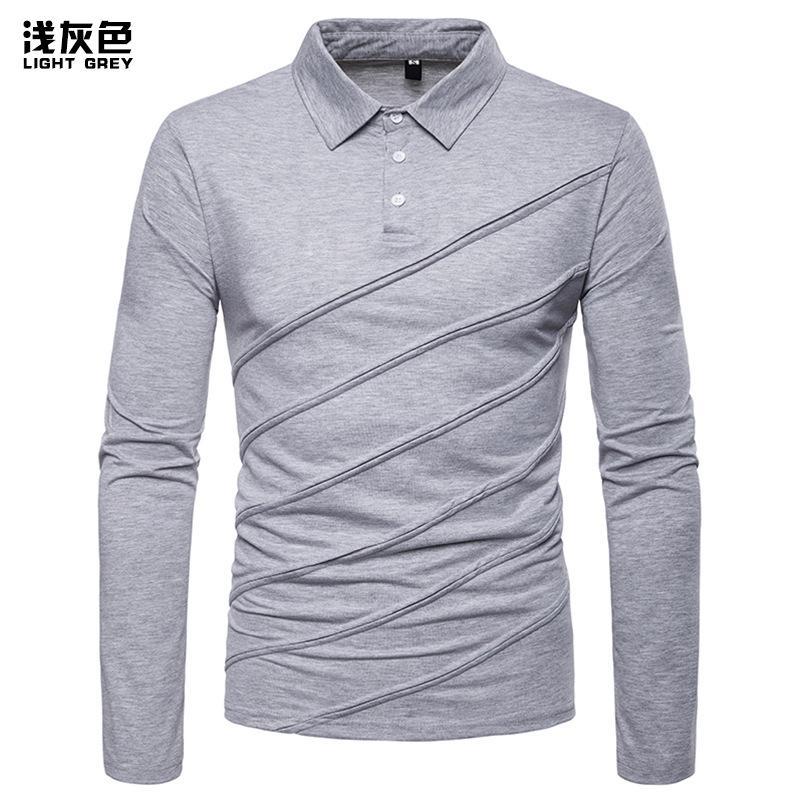 camisa de los hombres de otoño e invierno nueva manera de la camisa de costura de los hombres casuales de tamaño europeo undershirt P004