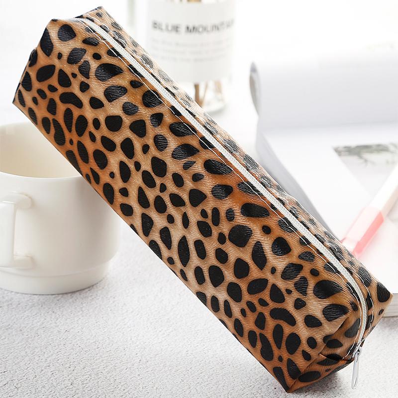 Accessori per la grande capacità carino modello matita Marsupio leopardo Ufficio Cassa sacchetto della matita e della penna della scuola